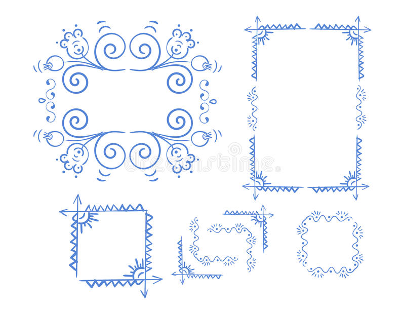 Vector Hand Drawn Doodle Border vector illustration