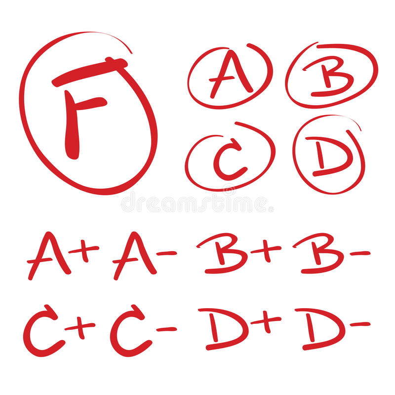 Vector Hand Drawn Grades Royalty Free Stock Image