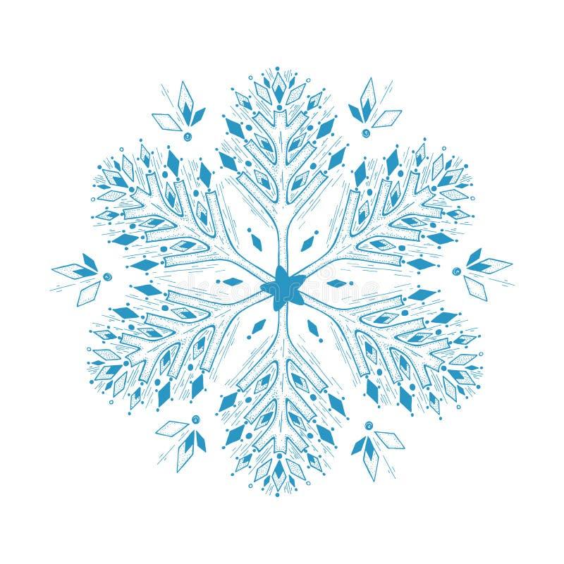 Illustration of snowflake royalty free illustration