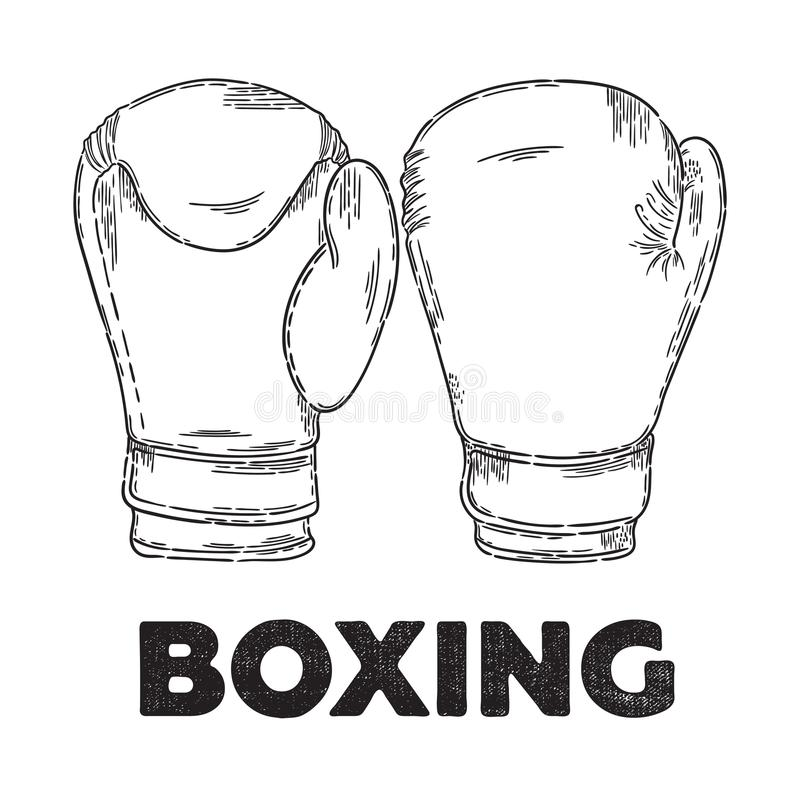 Vector boxing poster royalty free illustration