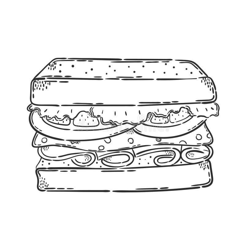 Vector sandwich icon royalty free illustration