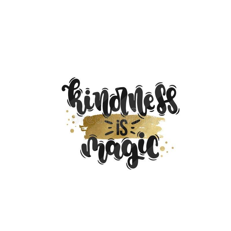 Kindness is magic stock illustration