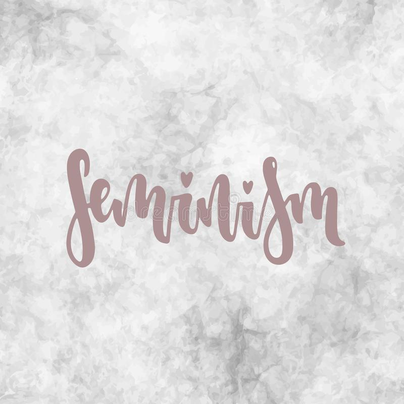 Vector feminism poster royalty free illustration