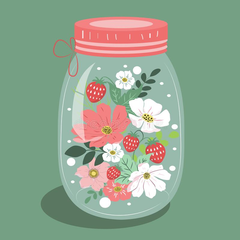 Free Vector Hand Drawn Illustration On The Theme Of Summer, Flowers, Floristics And Summer Mood. Stock Image - 215728061