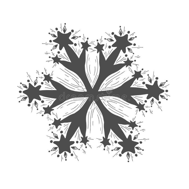 Illustration of snowflake vector illustration