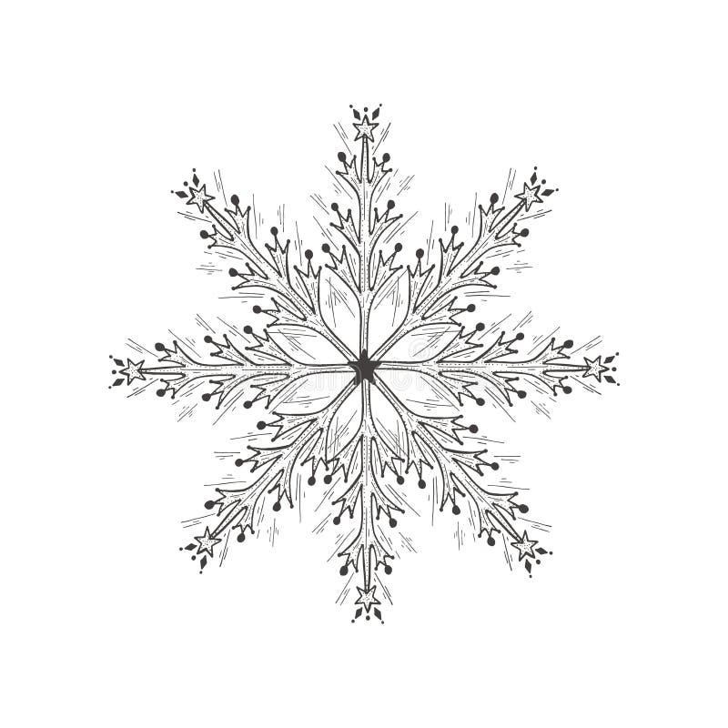 Illustration of snowflake stock illustration