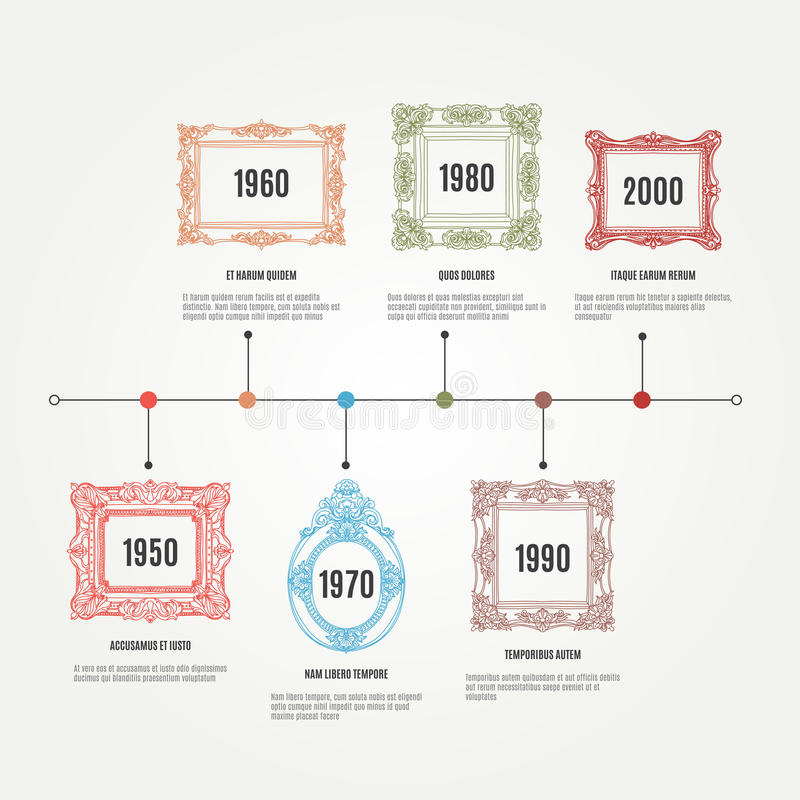 Vector hand drawn infographic elements with royalty free illustration