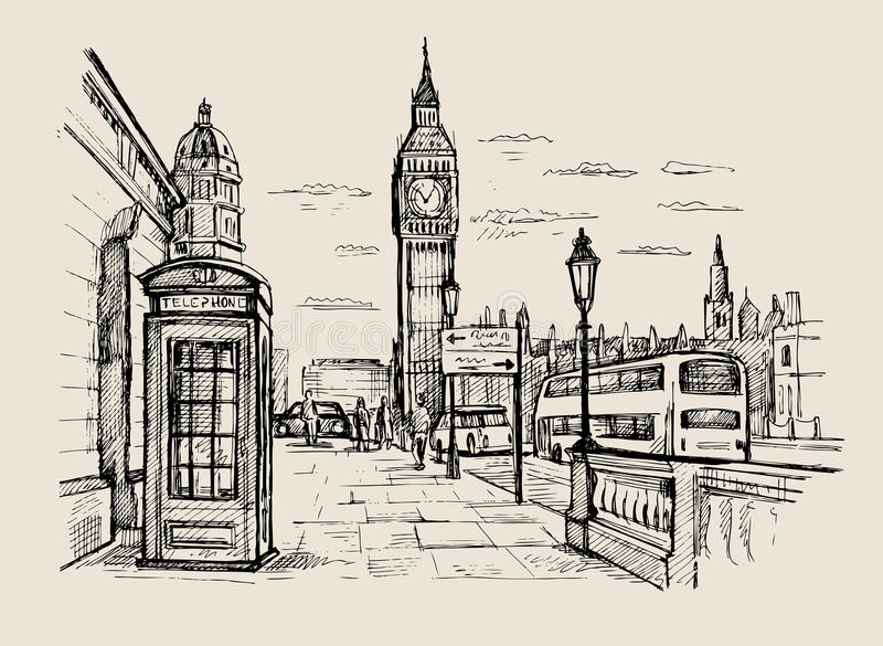 Vector hand-drawn London stock illustration