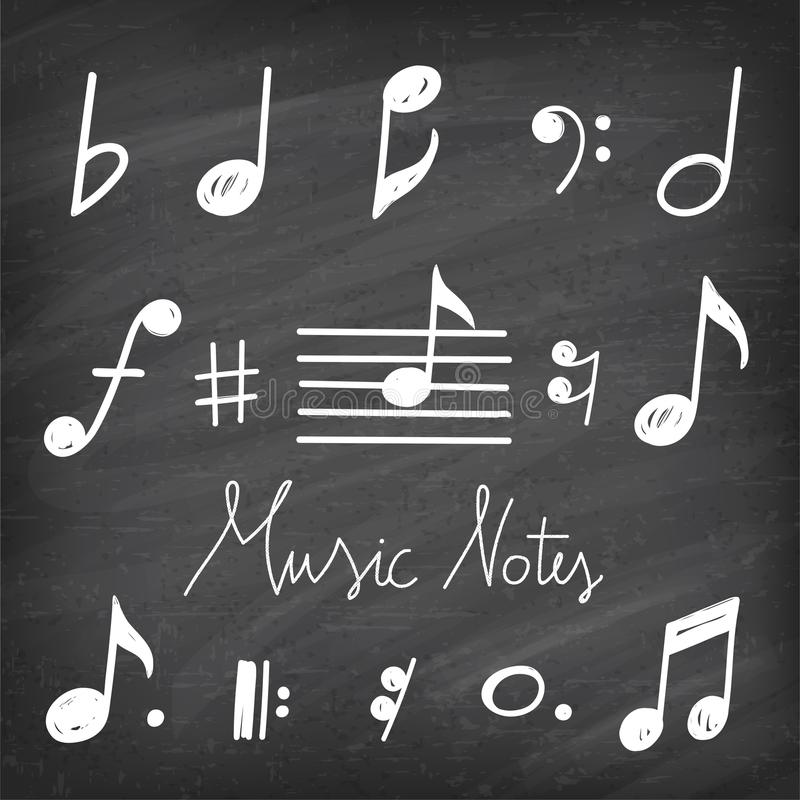 Free Vector Hand Drawn Music Notes Stock Photo - 101291850