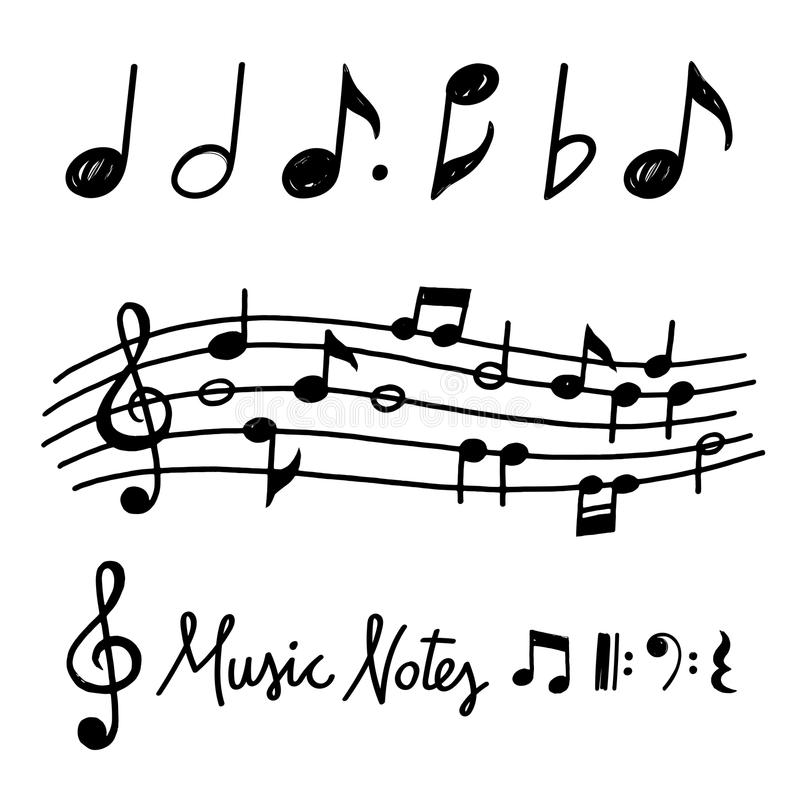 Free Vector Hand Drawn Music Notes Royalty Free Stock Images - 101297129