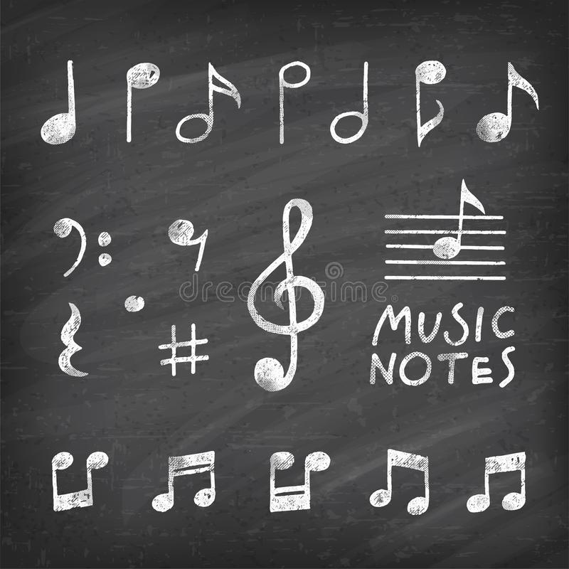 Free Vector Hand Drawn Music Notes Royalty Free Stock Photo - 101302425
