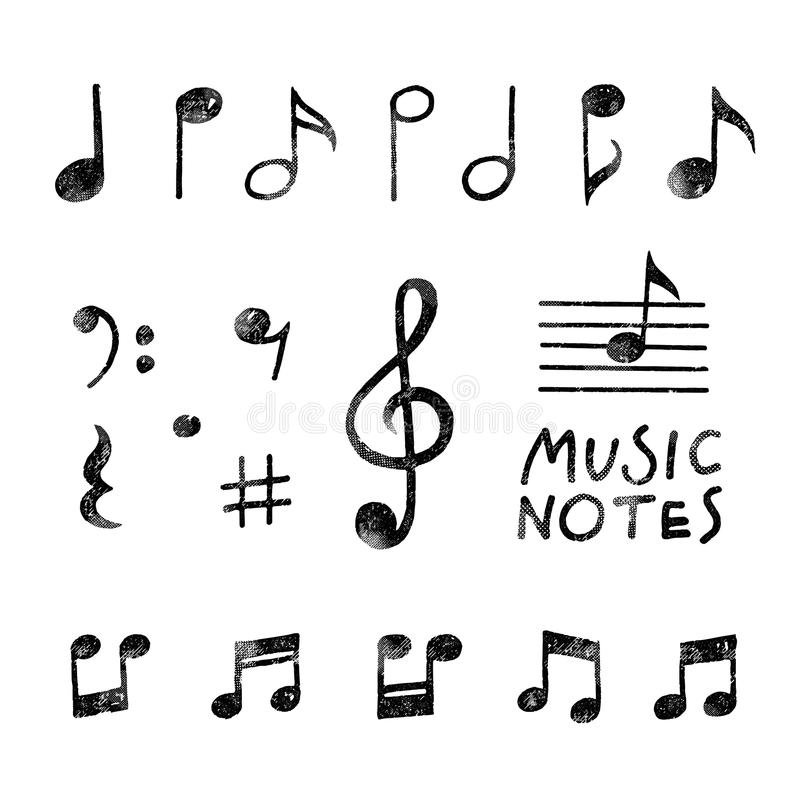 Vector Hand Drawn Music Notes Stock Vector Illustration Of Clip