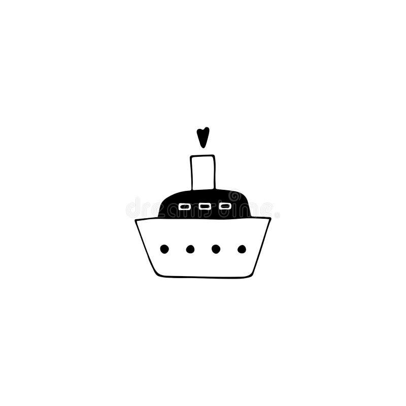 Cruise ship logo element royalty free illustration