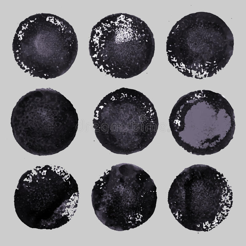 Download Vector Hand Drawn Paint Stains Grunge Set Stock Vector - Image: 40044514