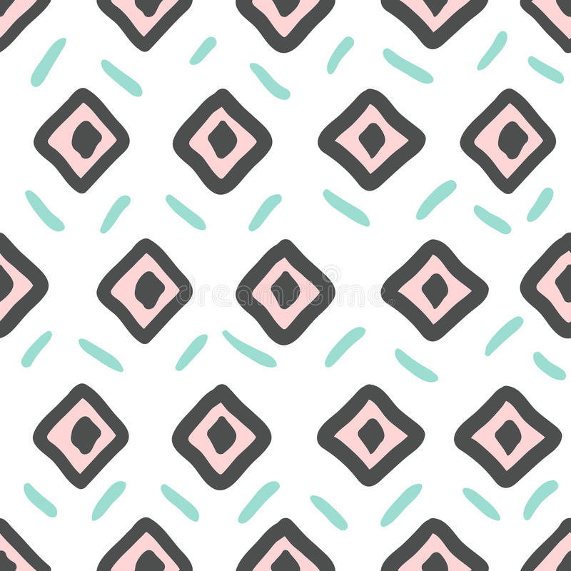 Vector Hand Drawn tribal, ethnic pattern in mexican style for te vector illustration