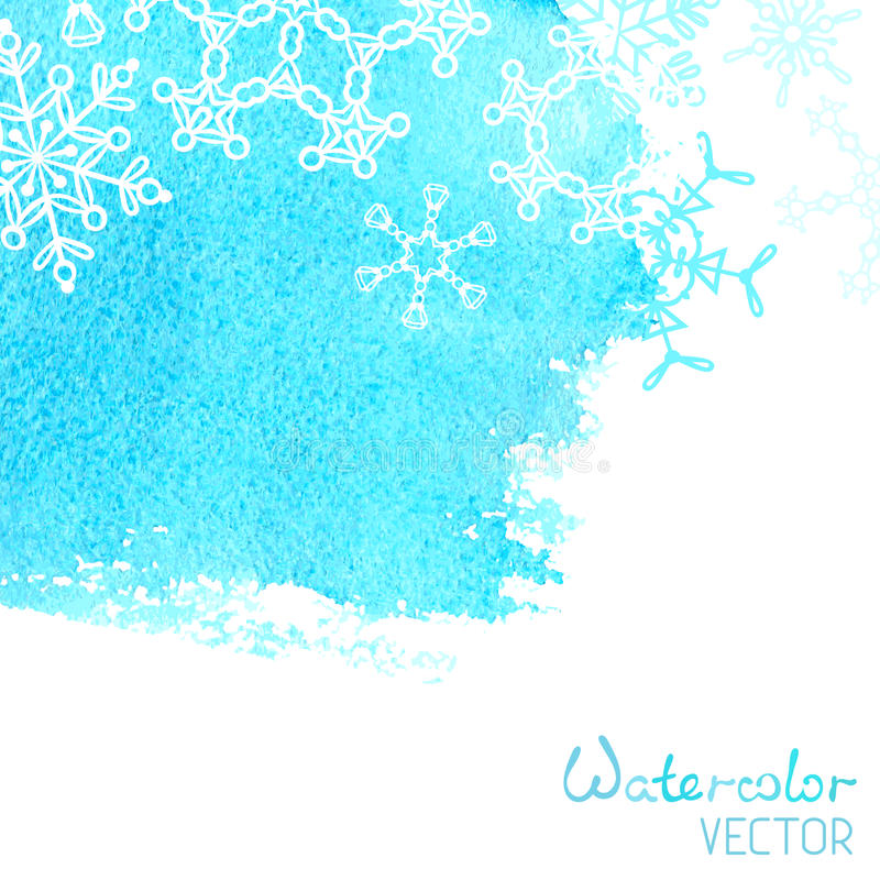 Vector hand-drawn watercolor background. royalty free illustration