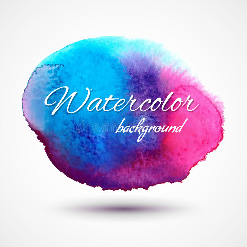 Vector hand drawn watercolor stain royalty free stock image