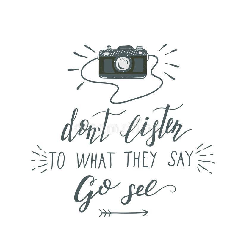 Vector hand-lettering quote of travel. Motivation slogan. vector illustration