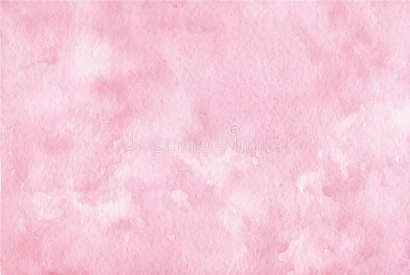 Vector hand painted pink watercolor background. Usable as a texture for stock illustration