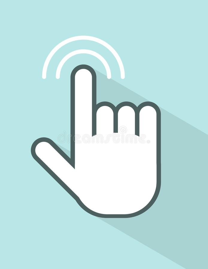 Vector hand touching screen royalty free illustration