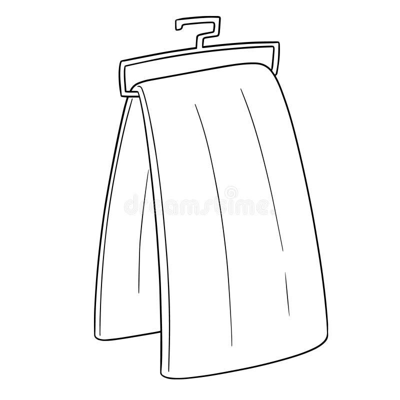 Vector of hand towel vector illustration