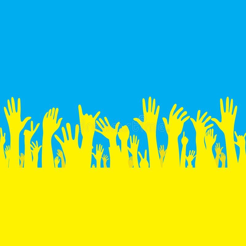 Free Vector Hand With Ukraine Flag Stock Photos - 42424743