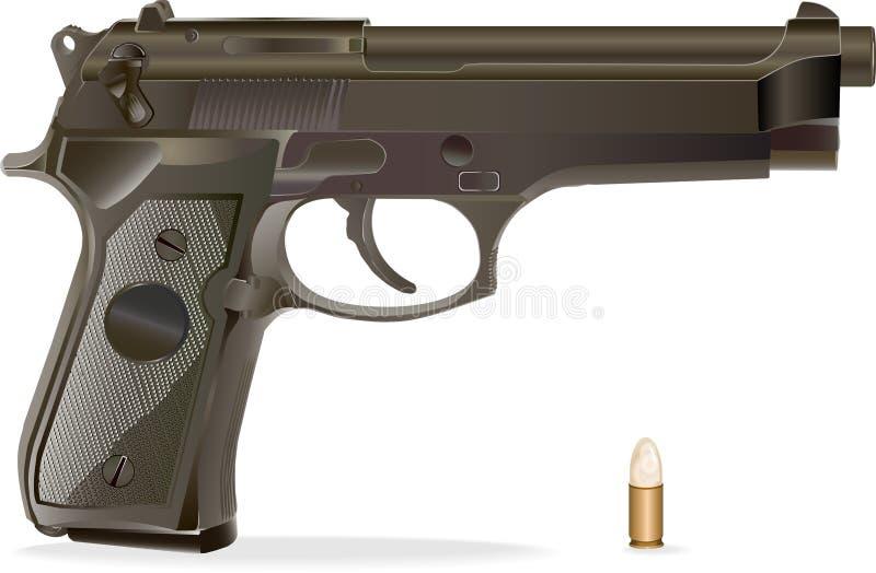 Vector handgun. royalty free stock image