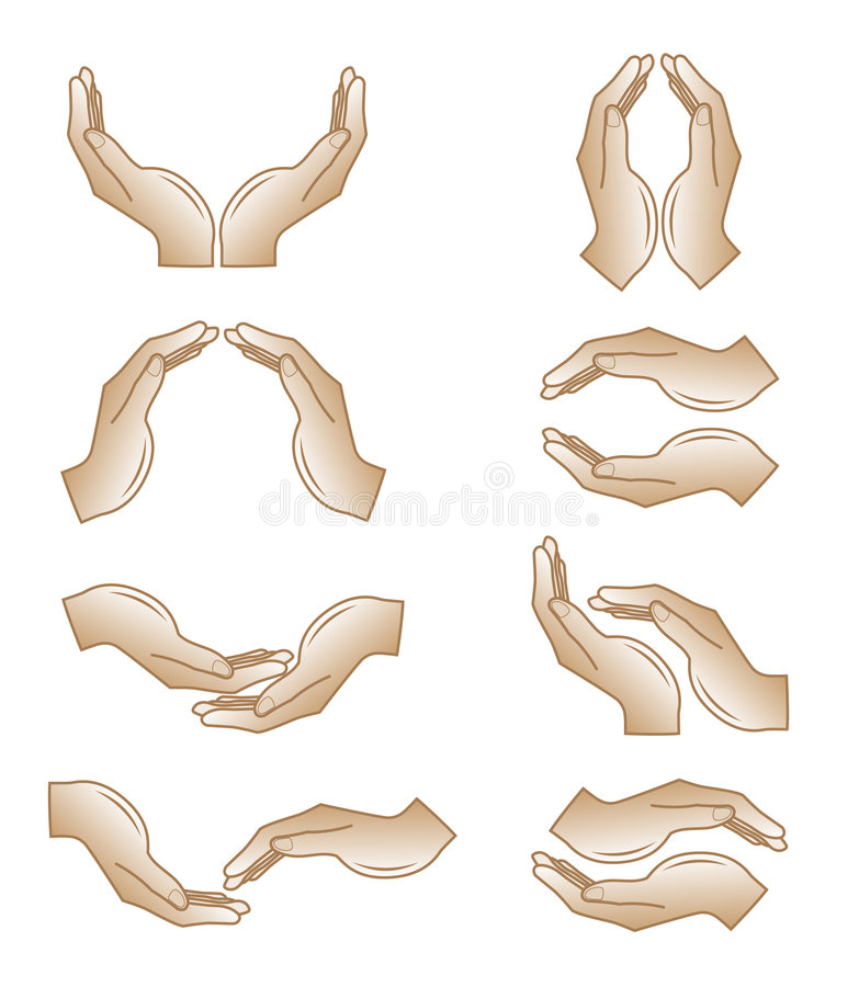 Free Vector Hands Icons Stock Images - 7466924