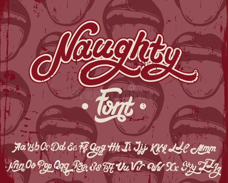 Vector handwritten calligraphic font vector illustration