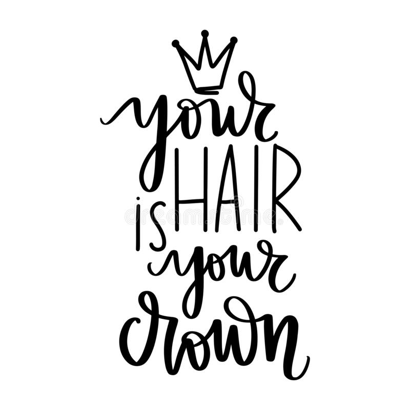 Vector Handwritten Lettering Quote About Hair Typography Slogan Stock Vector Illustration Of Card Hairdresser 179507970