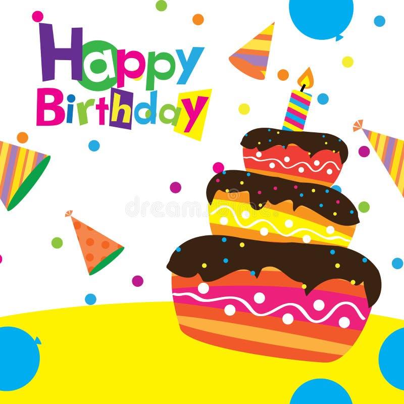 Vector happy birthday card vector illustration
