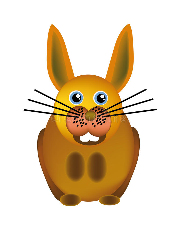 Download Vector happy bunny stock vector. Illustration of cottontail - 12139739