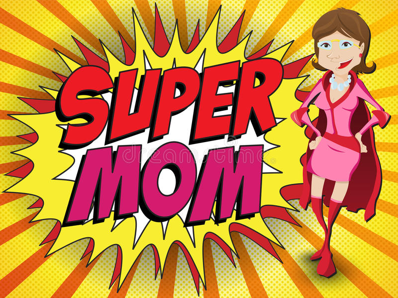 Download Happy Mother Day Super Hero Mommy Stock Vector - Image: 30303183