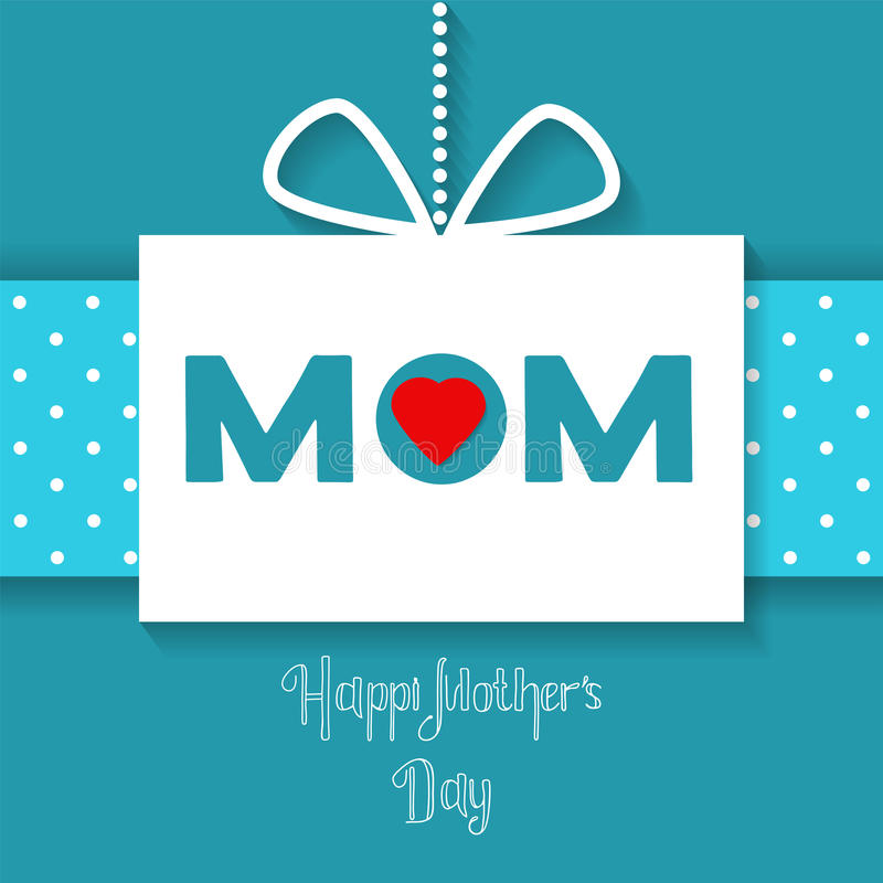 Vector Happy Mothers Day celebration card stock illustration