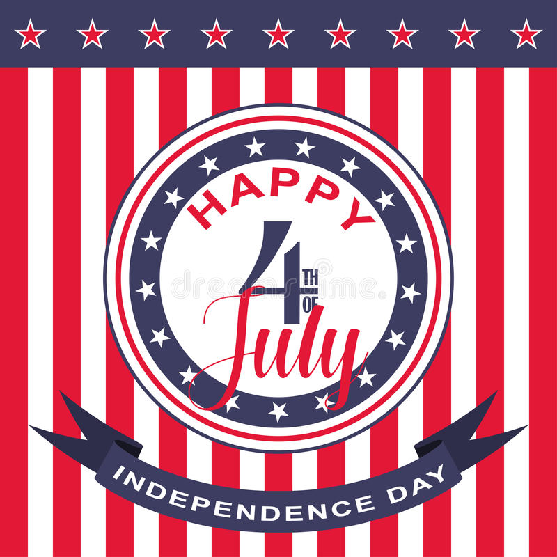 Vector Happy 4th of July background. USA Independence Day. Happy 4th of July background. USA Independence Day. Vector illustration royalty free illustration