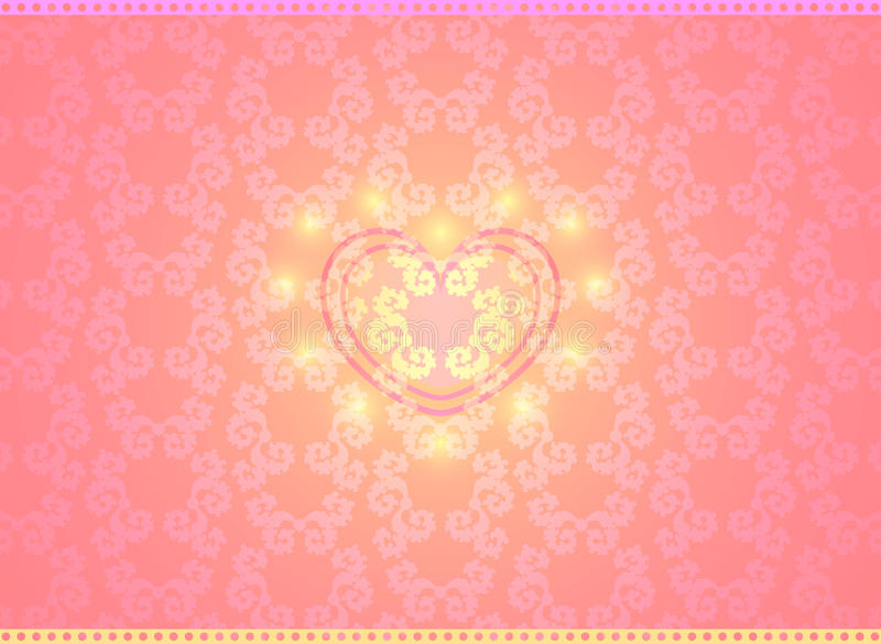 Vector Happy Valentine background. With heart in center vector illustration