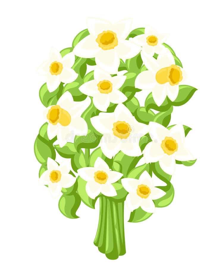 Vector Happy women's day. Beautiful wedding bouquet isolated White background. Vector illustration royalty free illustration