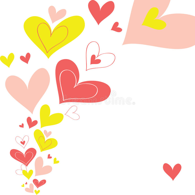 Vector hart als achtergrond stock illustratie