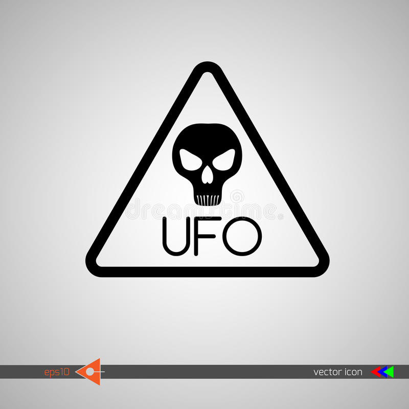 Vector. The head of an alien. The sign is a cautious visitor. UFO, X-Files.  vector illustration