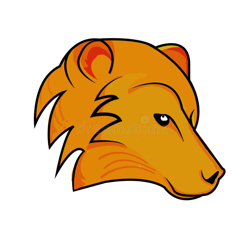 Vector head fox, on a white background. Orang , ilustrtion , head , logo , company stock illustration
