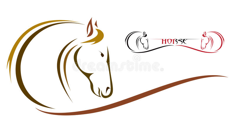Vector head of horse vector illustration