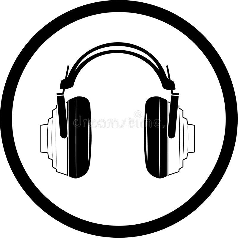 Download Vector headphones icon stock vector. Illustration of player - 8056990