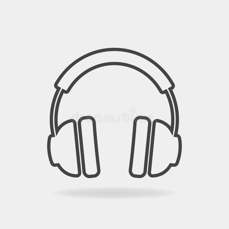 Vector headphones icon. Headphones image on white background. Vector headphones icon. Headphones on white background vector illustration