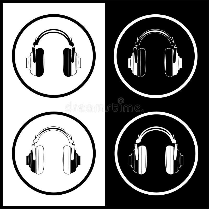 Download Vector headphones icons stock vector. Image of border - 8058252