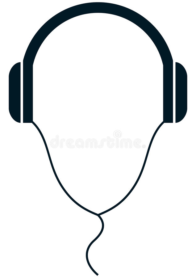 Vector Headphones Illustration Isolated On White Background Stock ...