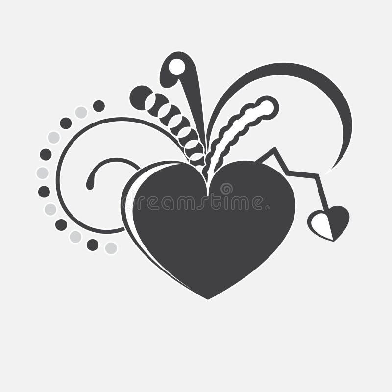 Download Vector heart. stock illustration. Illustration of black - 30709018