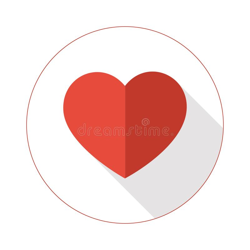 Vector heart icon with to tone colors royalty free stock image
