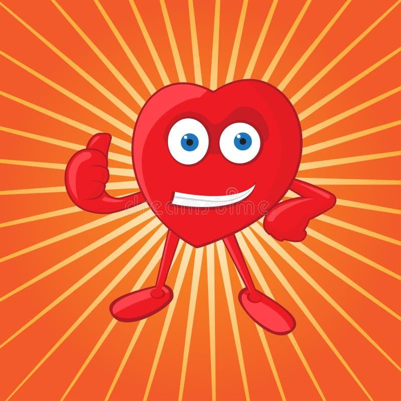 Vector Heart Mascot vector illustration