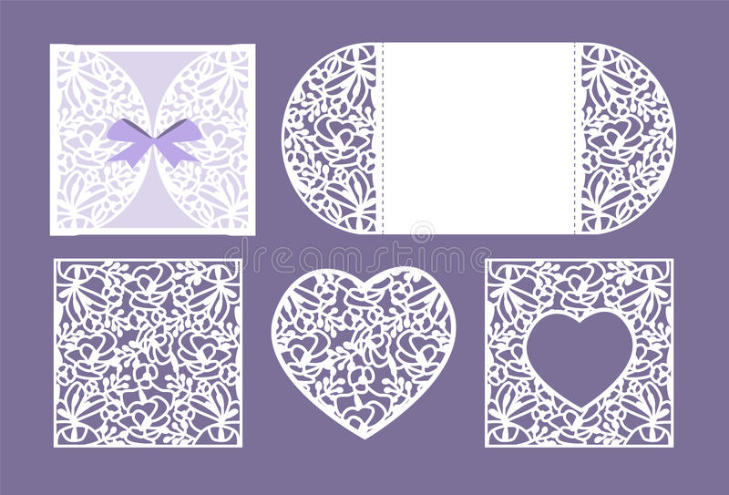 Vector heart paper cutting. White heart made of paper. Laser cut . royalty free stock photos