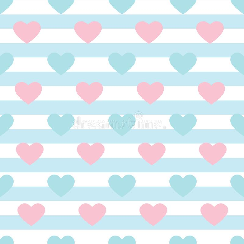 Vector heart pattern background royalty free stock photography